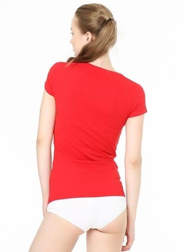 U.S. Polo Assn. Kısa Kollu Yuvarlak Yaka T-Shirt Kırmızı
